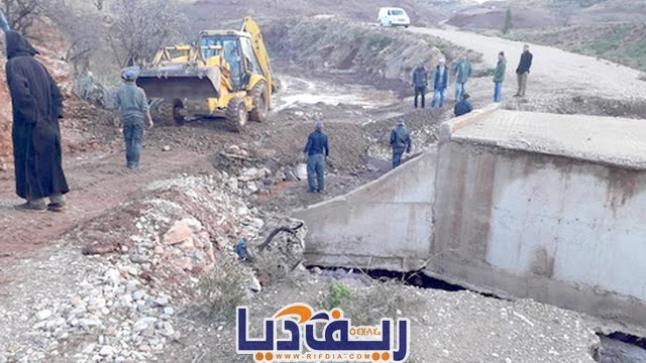 بالصور.. الأمطار تكشف اختلالات وغش في انجاز مشاريع بإقليم الحسيمة