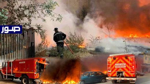 سيجارة تتسبب في اندلاع حريق مهول بالناظور (صور)