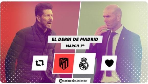 """الجولة """"26"""" للدوري الإسباني """"لاليغا سانتاندير"""" الأنظار مسلطة على ديربي مدريد في درب المنافسة على اللقب"""
