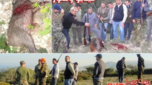 روبورتاج مصور: حملة قنص للخنازير البرية بغابة ثاوريرت جماعة بني شيكر