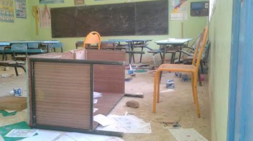 بالصور .. أساتذة يصدمون بتخريب أقسامهم في أول أيام الدخول المدرسي بالمغرب