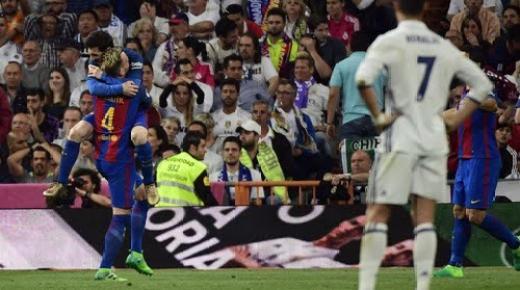 """فيديو .. ميسي الساحر يقود برشلونة لهزم """"المَلكي"""" في """"كلاسيكو الأرض"""""""