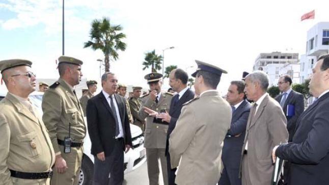 العطار يشرف على إعادة توزيع وتعزيز وحدات القوات المساعدة بالناظور