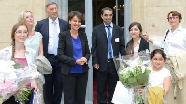 الوزيرة الريفية نجاة بلقاسم تحتفي بالتلميذة مريم بورحايل