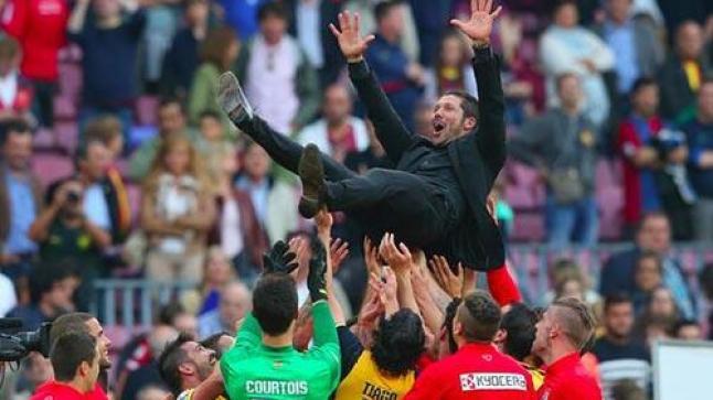 فيديو: أتلتيكو مدريد يحرز لقب الليغا بعد تعادله مع برشلونة