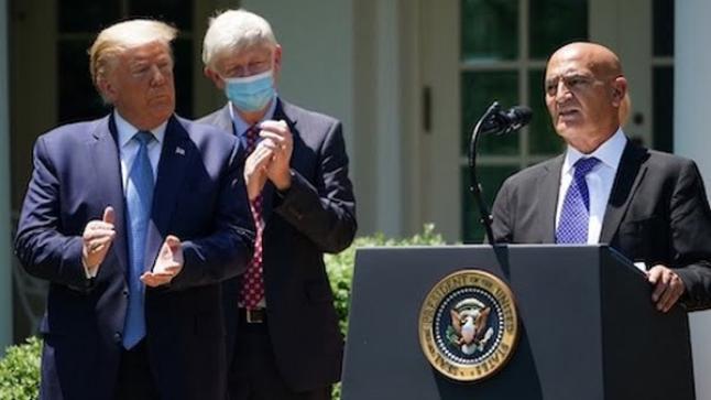 """فعلها """"منصف السلاوي"""".. الرئيس """"ترامب"""" سيعلن اليوم عن """"اختراق علاجي كبير"""" لفيروس كورونا"""