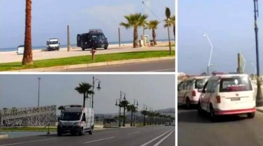 """طوق أمني يحاصر مداخل شواطئ طنجة للتصدي لمسيرة """"التبحيرة"""""""