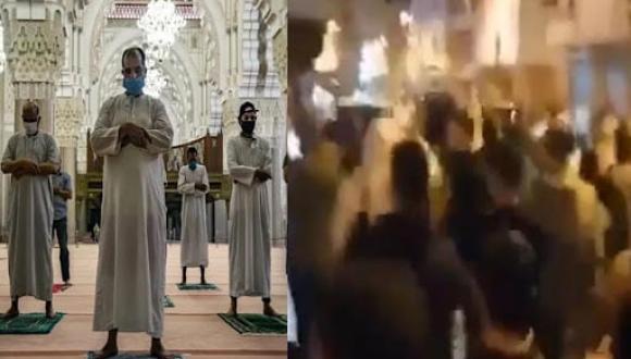مصلون ينجحون في تهريب إمام مسجد صلى بهم التراويح خلال تدخل أمني