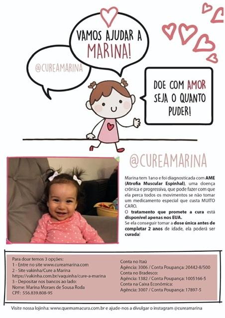 Foto  - [FINALIZADA] Rifa para ajudarmos curar a Marina
