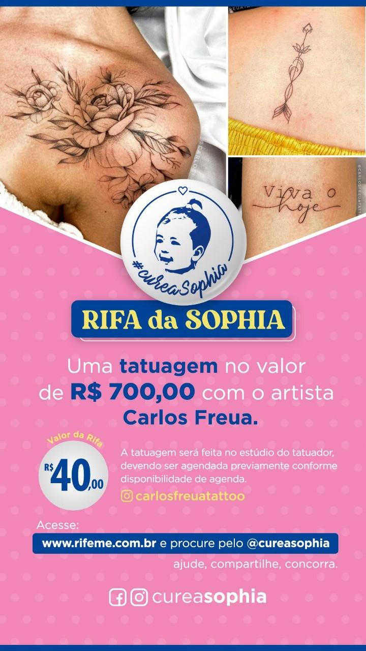 Foto  - @cureasophia - TATUAGEM NO VALOR DE R$700,00