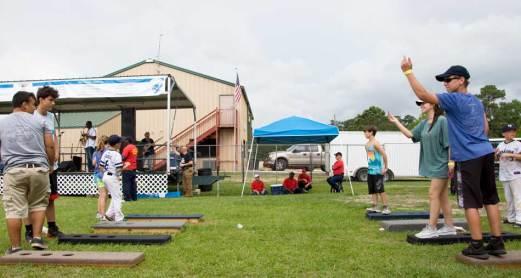 Toss games at Riff Ridgel Annual Crawfish cookoff