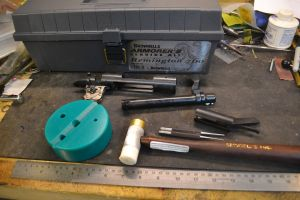 Remington 700 action and the Remington 700 Armorer's kit.  The armorer's kit contains everything we need to assemble and disassemble our Remington 700.