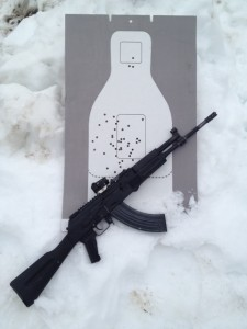 Arsenal AK equipped with the Bolton gas block and Wolverine flash hider.