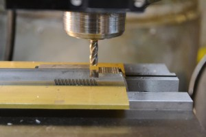 """A 1/4"""" solid carbide end mill is used to rough out the dovetail."""