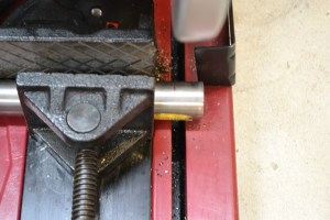 Shilen recommends cutting off 1″ from each end of the blank. We saved the ends for future reference.