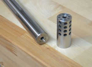 This is the Remington varmint contour barrel and the Vais varmint brake that will be installed on it.