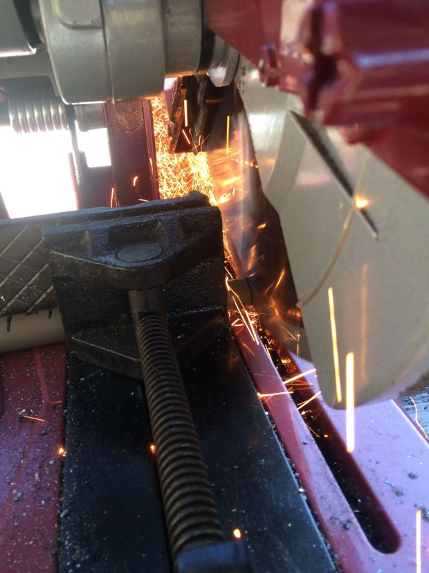 Even though there are a lot of sparks, the saw doesn't add much heat to the barrel.