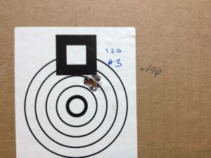 """Here is a 5-shot, 100 yard group.  .199""""!"""