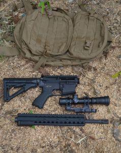 DRD takedown parts below bag