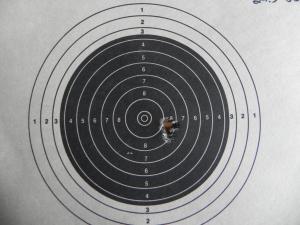 5-shots, 77 grain SMK at 100 yards.