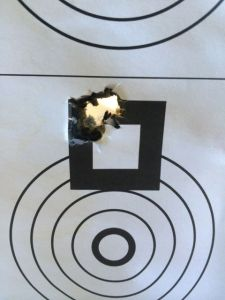 "This was the best group so far. .312"" at 100 yards. I was shocked the US869 performed so well."
