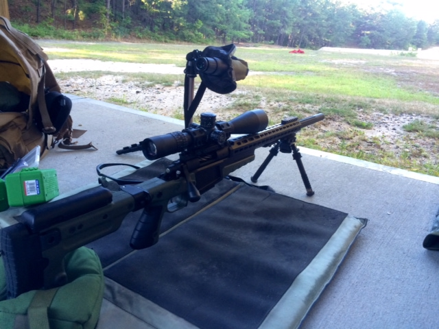 I worked up 8 loads with a Berger 108 BTHP, H4350, Lapua brass and a CCI 450 primer.
