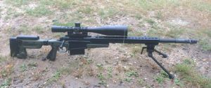 Custom 338 Lapua Magnum rifle.
