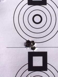 Guess what?  It's a shooter.  First day out for load development. 5-shots at 100 yards, 105 Bergers.