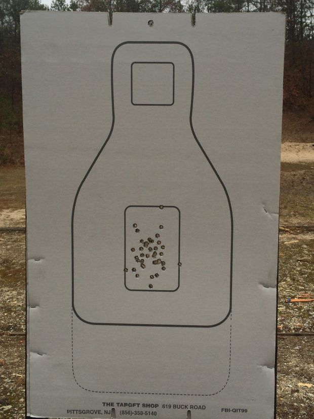 "The first 40 rounds at 3, 5 and 7 yards in the ""x"" ring."