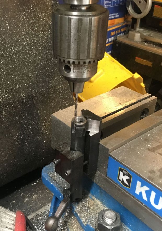 700 SAKO extractor drilling spring hole