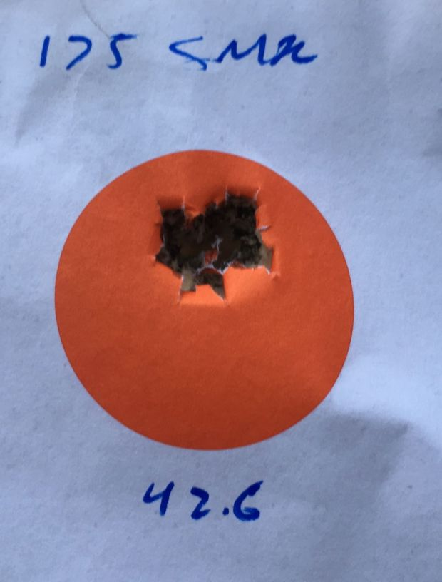 M40A3 100 yards 42.6 4064 .368 in .351 MOA