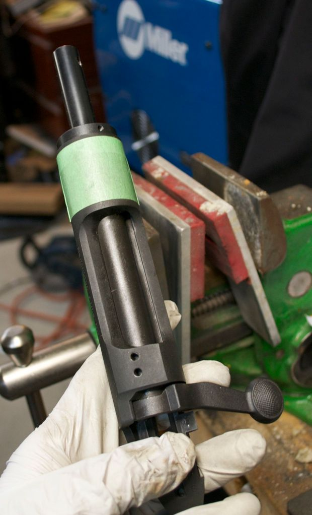 bolt lapping tool in use