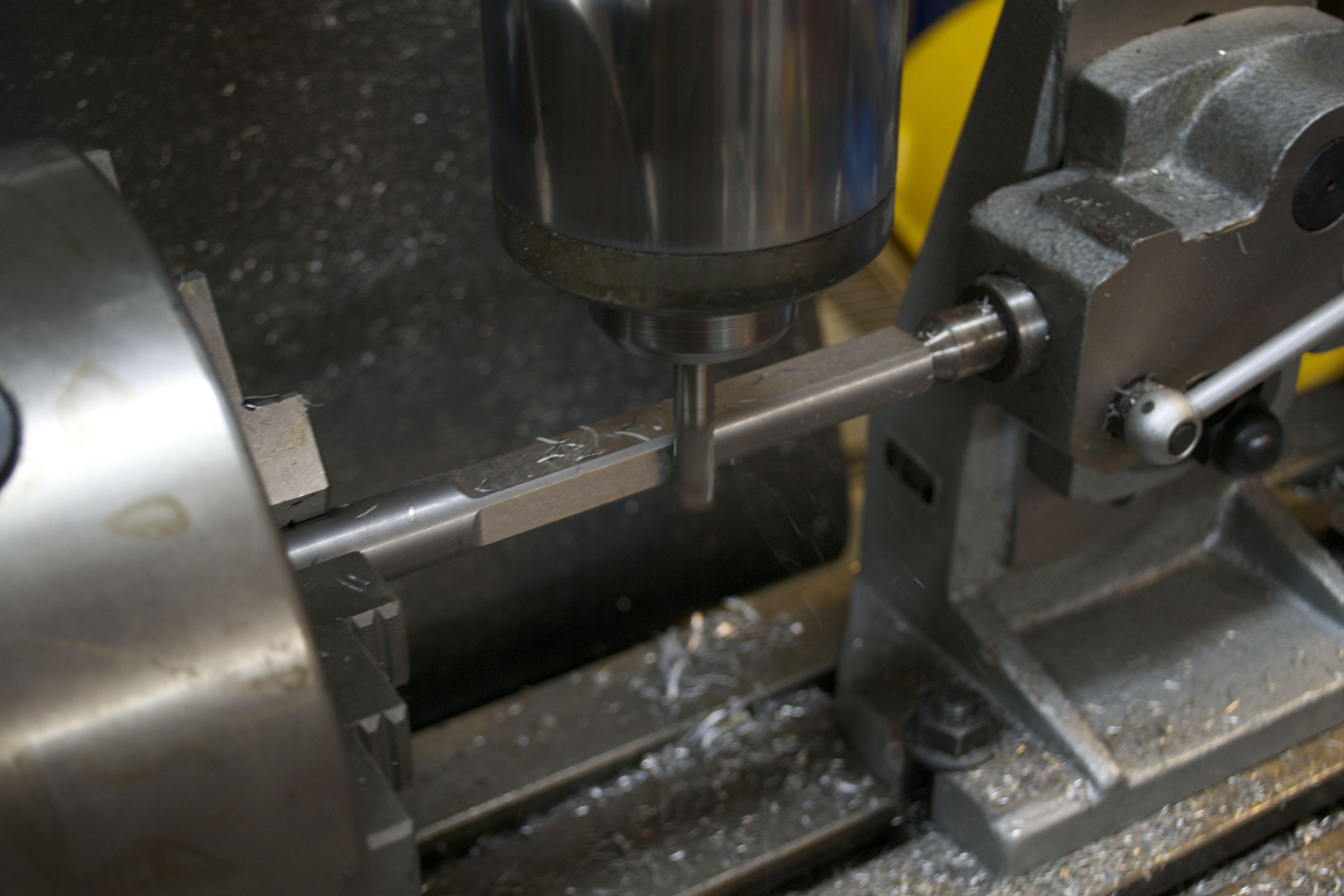 machine back edge of fixture