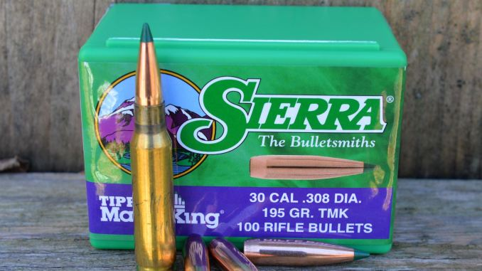 308 Winchester load development: Sierra  308 195 gr  Tipped