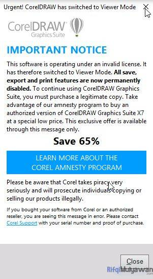 Gambar Mengatasi Corel Draw Has Switched To Viewer Mode
