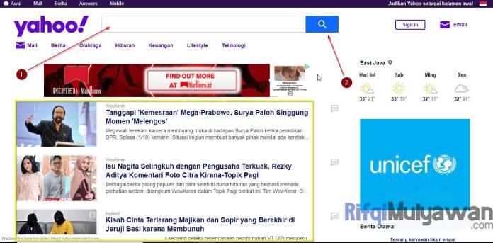 Gambar Screenshoot Halaman Depan Situs Yahoo Dalam Pengertian Apa Itu Yahoo