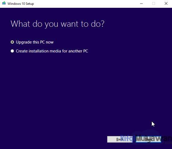 Gambar Screenshoot Cara Menggunakan Windows Media Creation Tool