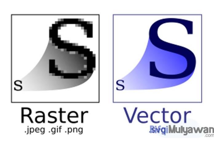 Ilustrasi Gambar Perbedaan Raster dengan Vector Pengertian Vector Image