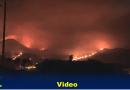Rif: Großes Feuer in den  Bergen von Tafersit und Ifarni verwüstet den Wald.