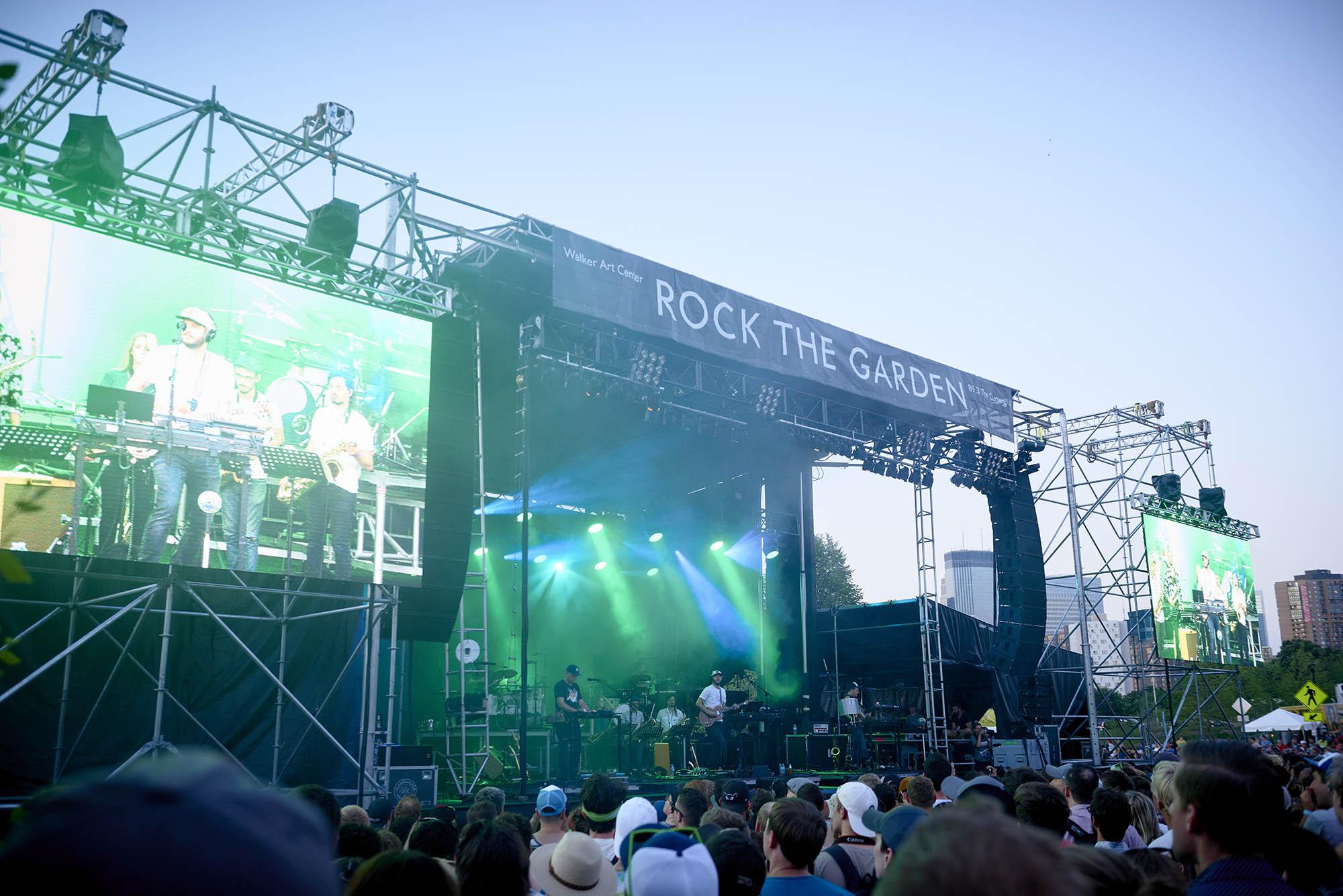 "Bon Iver at the 2017 ""Rock The Garden"" festival in Minneapolis"