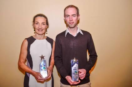 Sharon Cahill and Michael O'Regan - winners of the 2015 RigBag Run The Kingdom Championships.