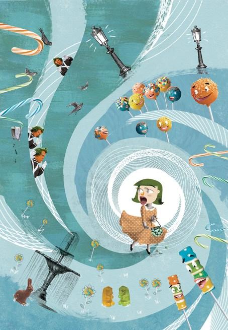Ilustración de cuento Roxana Porchelana