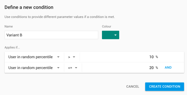 Variant B for Firebase Remote Config