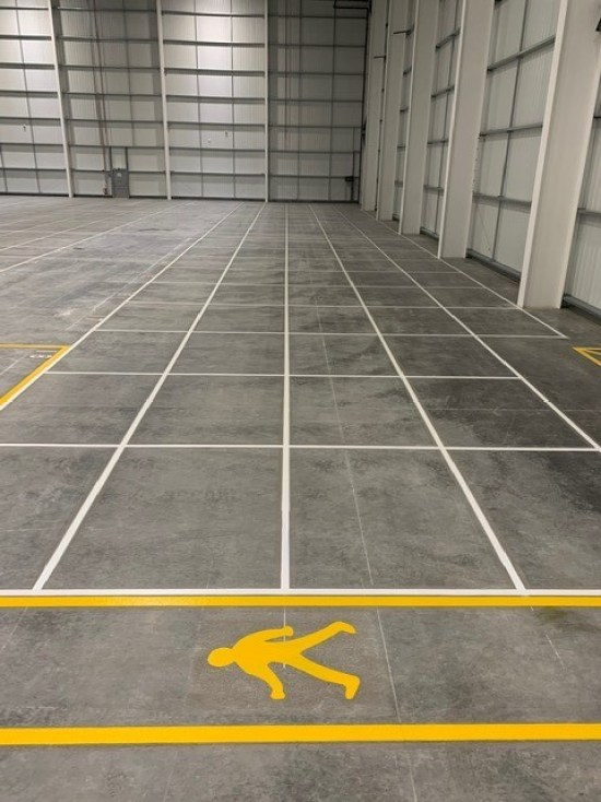 warehouse line markings - Hemel Hempstead