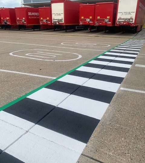 First-Class Line Marking delivery for Royal Mail Heathrow