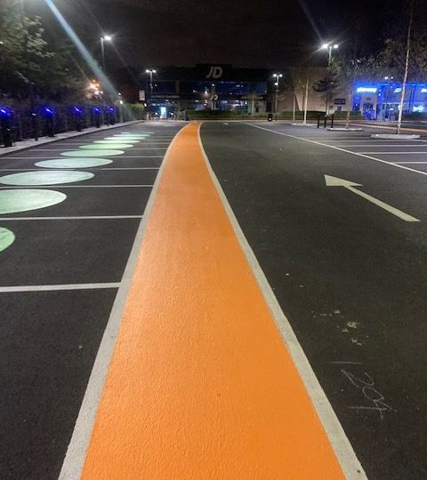 A New Year Merits New Car Park Line Marking for a North East Car Park