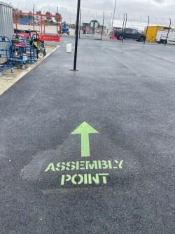 road markings, walkways and footpaths