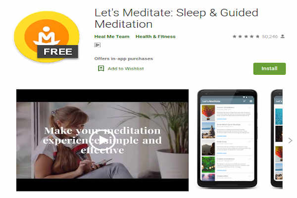 Let's Meditate - Sleep and Guided - FREE Meditation App to relieve stress and anxiety - RightApp4u