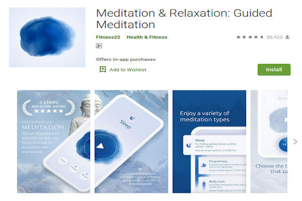 Meditation and Relaxation - Guided Meditation by Fitness22 - FREE Meditation App to relieve stress and anxiety - RightApp4u