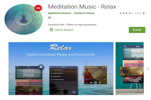 Meditation Music - Relax by Appworld Infotech - FREE Meditation App to relieve stress and anxiety - RightApp4u